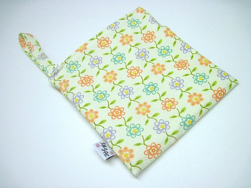 Multi Colored Flowers on Cream Wet/Dry Bag