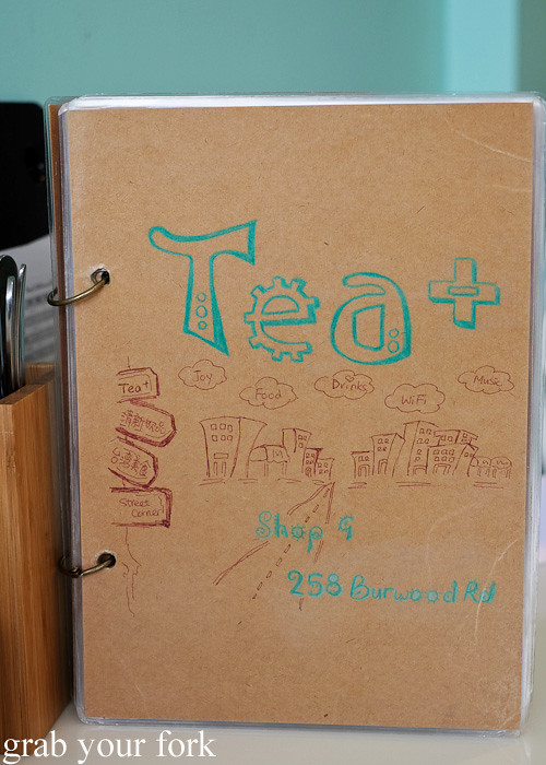 Hand-drawn menus at TeaPlus, Burwood