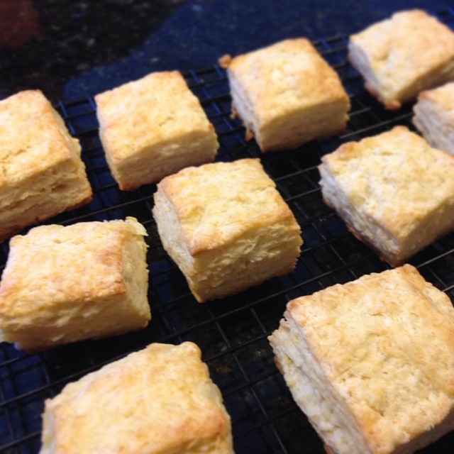 Best biscuits ever. Recipe from King Arthur Flour, of course.