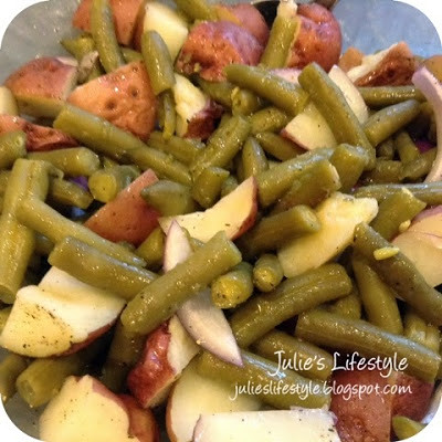 http://julieslifestyle.blogspot.com/2014/06/julies-green-bean-potato-salad.html