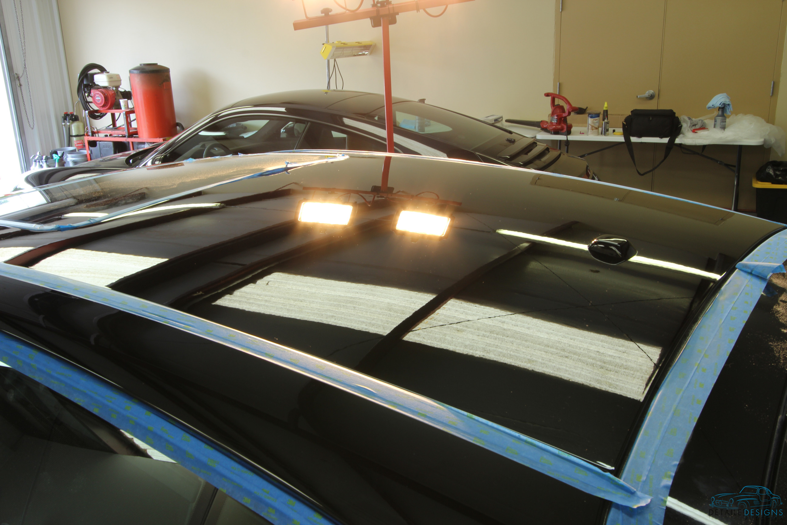 After paint correction roof