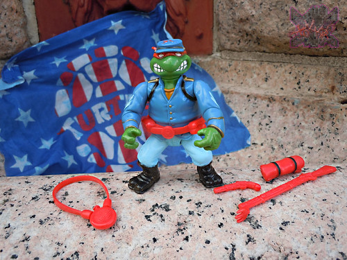 """MUTANT MILITARY 2"" TEENAGE MUTANT NINJA TURTLES ::  YANKEE DOODLE RAPH  vi (( 1992 ))"