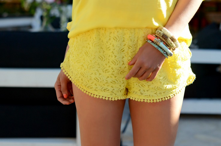 DSC_2882 Zara lace yellow shorts