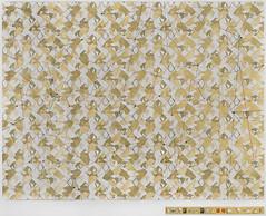 ORO - El Gran Pliego. Acrilico, acuarela, tinta china, pan de oro y cristales sobre papel Aquarelle Arches de Canson. 76 x 96 cm, 2014.