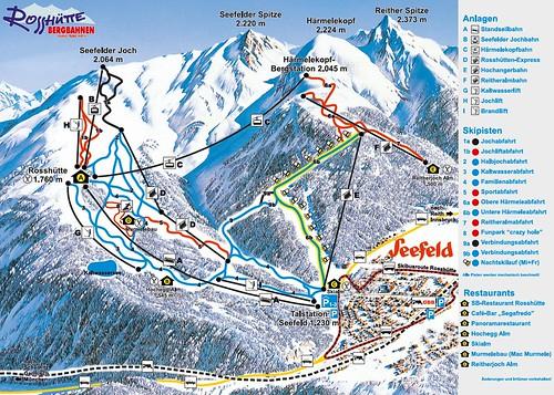 Seefeld - mapa sjezdovek