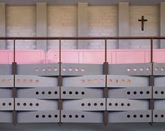 hans christian hansen, architect: tagensbo kirke / church, copenhagen 1966-1970. colour and weave.