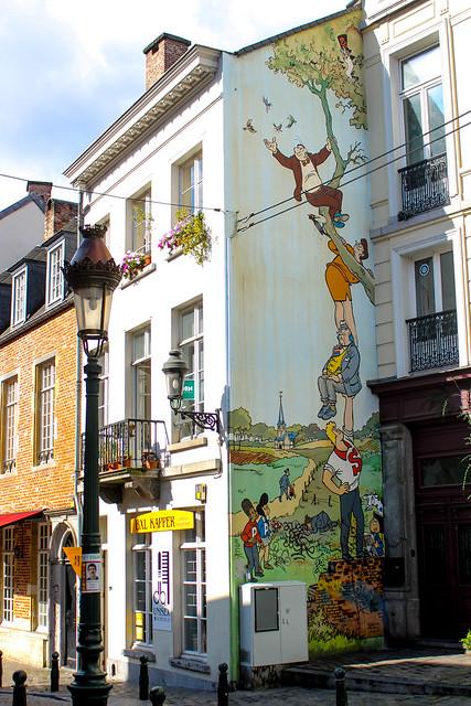 Las Aventuras de Nero - Marc Sleen (mayo de 1995). Place Saint-Géry/Sint Gorikplein
