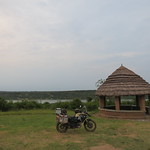 My campsite for the night at Queen Elizabeth National Park, Uganda