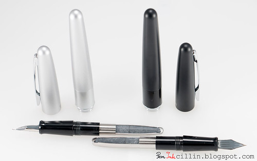 Pilot Metropolitan silver and black disassembled
