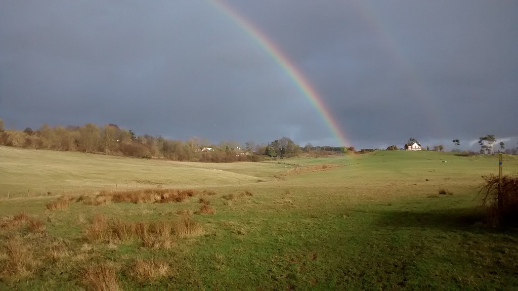 Rainbow near Pluckly No gold found!