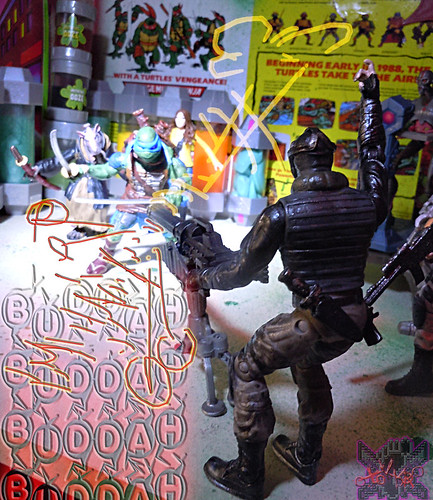 """NINJA TURTLES"" Movie :: FOOT SOLDIER  { tOKKustom PARAMILITARY wash } xv // .. Foot Heavy Rapid Repeat Cannon  (( 2014 ))"