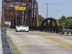 Corvette Over Route 66 Bridge
