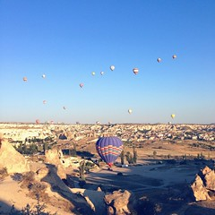 Hot Air Balloon at #goreme #cappadocia #turkey #landscape #wanderlust #surreal extraordinary place on earth. #travel