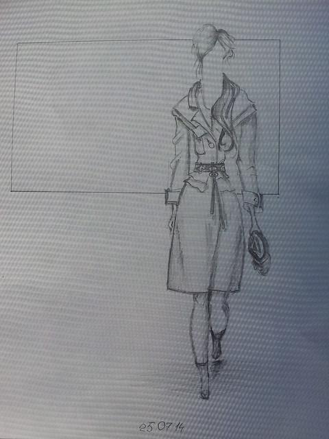 fashion illustration, sketch,