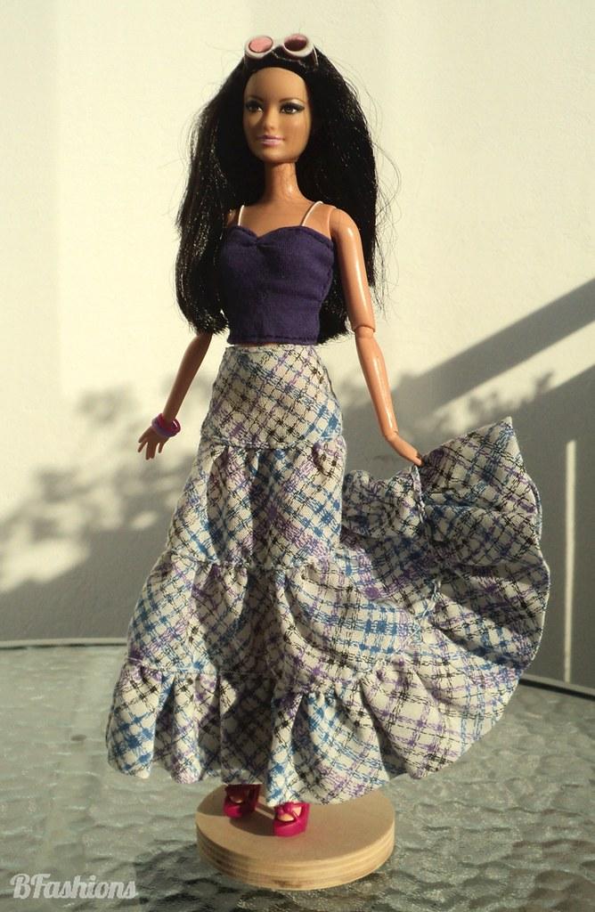 Spódnica z falbanami dla Barbie   BFashions