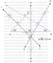 Draw perpendicular bisectors of a triangle