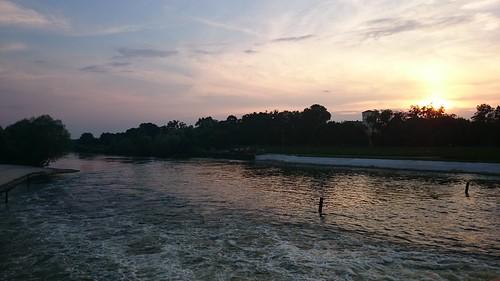sunset mobile river polska 2014 wrocław odra