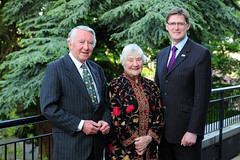 Lord David Steel, Baroness Shirley Williams, and Mike Crockart MP at Better Together event, May 2014
