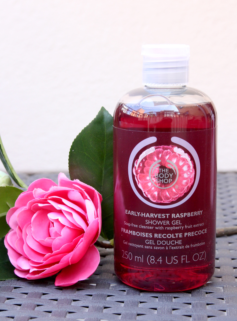 TBS early-harvest raspberry shower gel