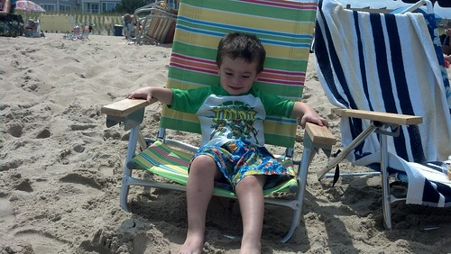 Bethany Beach - July 30th - Sagan Happy on Beach Chair
