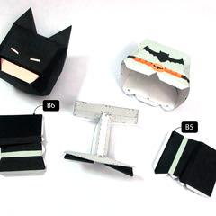 วิธีทำโมเดลกระดาษแบทแมน (Batman Papercraft Model) 014