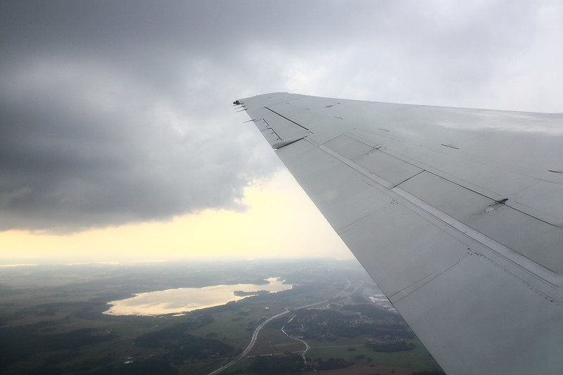 Bumpy Departure out of Stockhalm-Arland onboard of a Blue1 Boeing 717.