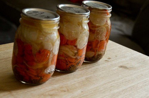 Pickled Daikon and Carrot Coins