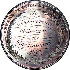 Franklin Institute medal reverse