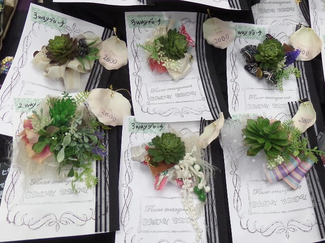 Succulent Brooches