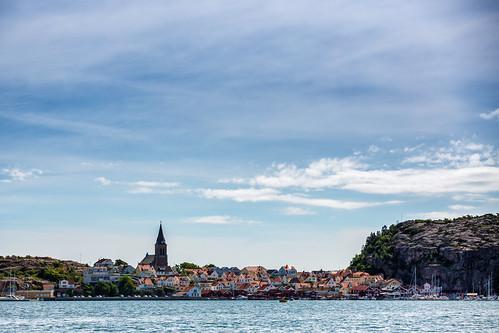 sea summer town sweden sverige bohuslän västkusten fjällbacka klippor västragötalandslän