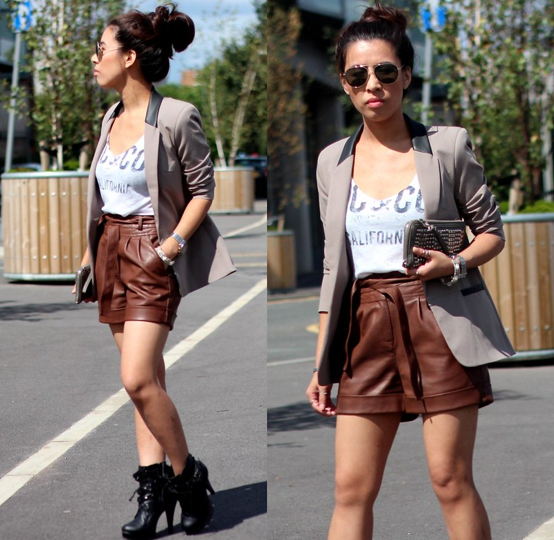 Article 21 Uk Fashion & Style Blog, Primark Faux Leather Shorts, Leather Shorts, Primark Shorts, Primark Blazer, What to Wear to Work, Primark Workwear, uk fashion blogger, top uk blogs, best uk fashion blogs, british fashion blogs, uk chinese blogger, manchester fashion blogger
