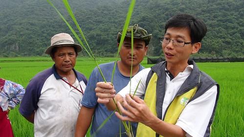 輔導團隊教導南安農民學習有機農業轉作施肥黃金時機;圖片來源:營建署玉管處