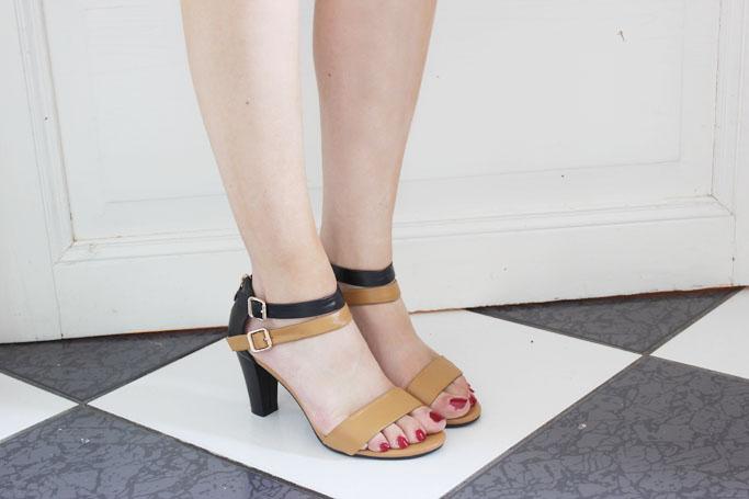 Milanoo Shoes - Gladiator sandals - günstige high heels hochwertig - High heels schwarz braun Zara