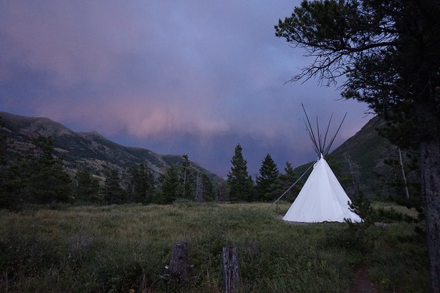 Crandel Mountain Tipi - Sunset