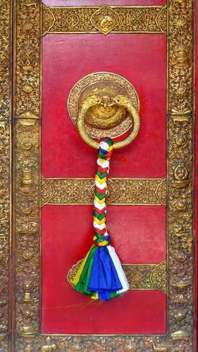 Nepal- Kathmandu - Temple Door - 42