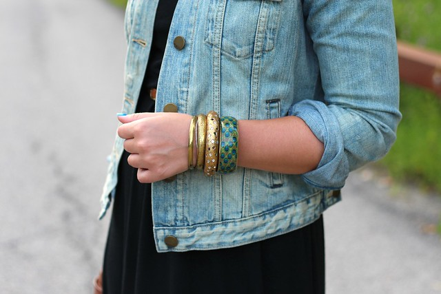 Denim Jacket & Maxi Dress | Casual Outfit | #Livingaftermidnite