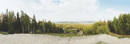 summer sky panorama lake green nature skyline clouds forest suomi finland landscape outdoors woods nikon scenery view horizon sunny handheld nikkor jyväskylä jyvaskyla 18200mm d90 nikond90