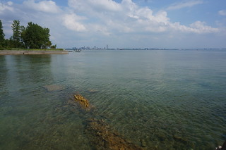 Lake Erie and Buffalo in the distance