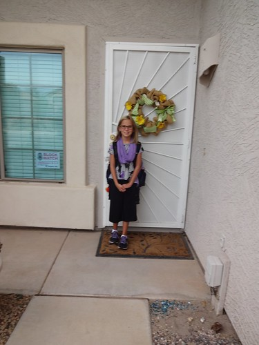 Annie on her first day of 5th grade