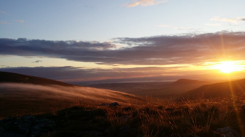 Sunrise from camp in the Eastern fells #sh