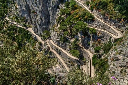 italy capri italia amalficoast paths roads bayofnaples gardensofaugustus mabjack