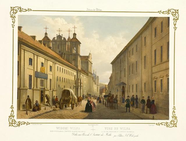 012-Vilna- calle de los dominicos e instituto de los nobles-Album Vilnius-Biblioteca Polona