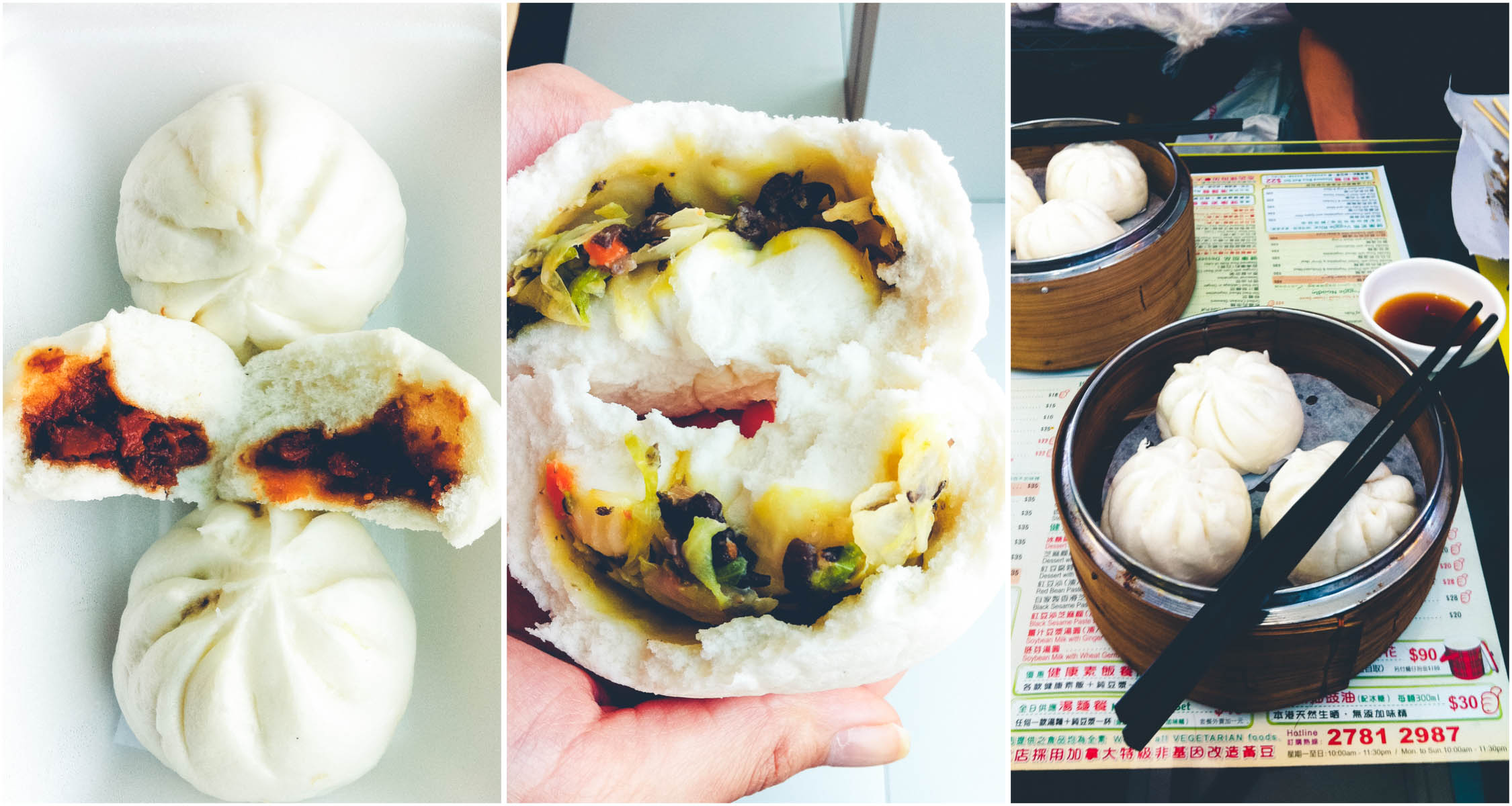 Vegan Steamed Char Siu and Vegetables Buns