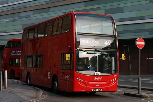 Abellio London 2474 on Route 49, White City Bus Station