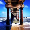 When viewed from underneath, the Duck Research Pier seems to extend endlessly into the Atlantic Ocean. Photo courtesy of @bsaud20. #iloveobx #outerbanks #obx #visitnc #vacation #ducknc