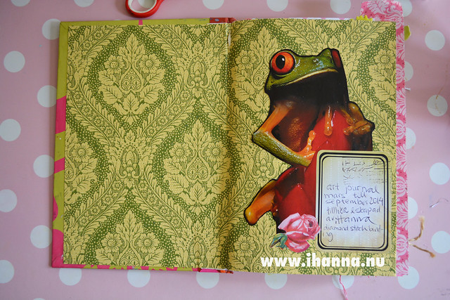 Art Journal Detail: End-papers and frog