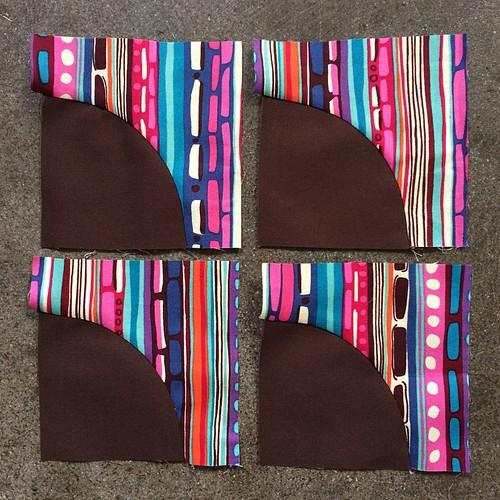 August Minneapolis Modern Quilt Guild Mystery Quilt Along blocks done. #mplsmqg #mplsmqgmysteryquiltalong