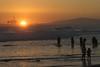 Huntington Beach Trip - Aug 2014 - Sunset over the oil rig.