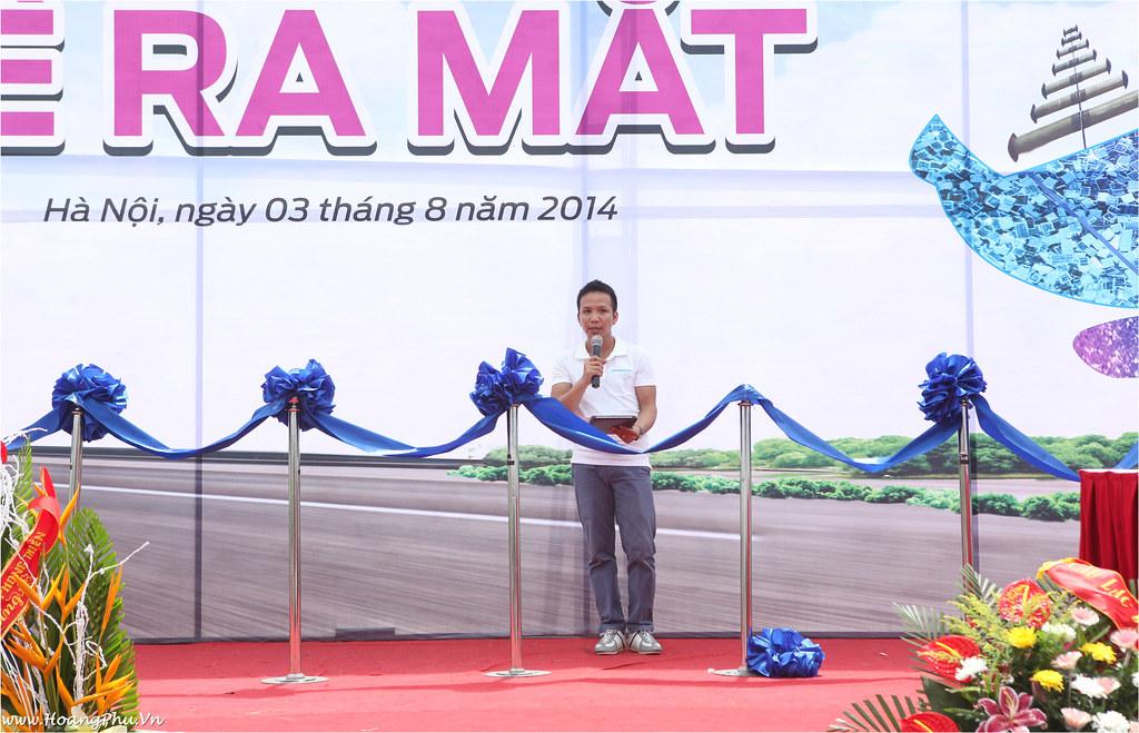 Hội trưởng Hoàng Phú phát biểu Lễ ra mắt HQDSHN
