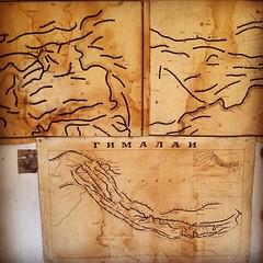 #map #drawing #mountains #mestia #khergiani